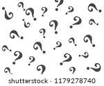 question mark pattern. question ... | Shutterstock . vector #1179278740