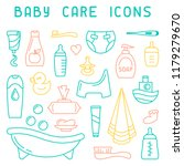 baby care icons collection.... | Shutterstock .eps vector #1179279670