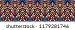 ikat geometric folklore...   Shutterstock .eps vector #1179281746