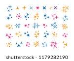 glowing light effect star.... | Shutterstock . vector #1179282190