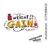 weight gain. vector... | Shutterstock .eps vector #1179288613