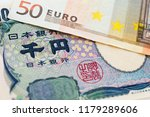 japanese yen and euro bank note ... | Shutterstock . vector #1179289606