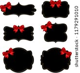 banner with red bow | Shutterstock . vector #1179291010