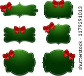 banner with red bow | Shutterstock . vector #1179291013