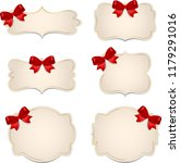 banner with red bow | Shutterstock . vector #1179291016