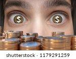 gambling concept. young man... | Shutterstock . vector #1179291259