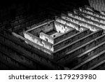 labyrinth made of stone ... | Shutterstock . vector #1179293980