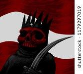 illustration of a dead king... | Shutterstock . vector #1179297019