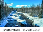 winter snow forest river...   Shutterstock . vector #1179312610