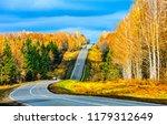 autumn forest road landscape.... | Shutterstock . vector #1179312649