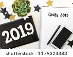 happy new year's layout.... | Shutterstock . vector #1179323383