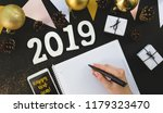 happy new year's layout.... | Shutterstock . vector #1179323470