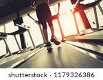 exercise treadmill cardio... | Shutterstock . vector #1179326386