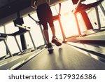 exercise treadmill cardio... | Shutterstock . vector #1179326386