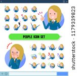 a set of school girl with... | Shutterstock .eps vector #1179339823