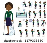 a set of women with injury and...   Shutterstock .eps vector #1179339880
