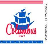 illustration of columbus day... | Shutterstock .eps vector #1179340519