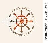 illustration of columbus day... | Shutterstock .eps vector #1179340540