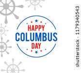 illustration of columbus day... | Shutterstock .eps vector #1179340543