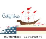 illustration of columbus day... | Shutterstock .eps vector #1179340549