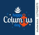 illustration of columbus day... | Shutterstock .eps vector #1179340570