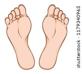 illustration of body part ... | Shutterstock .eps vector #1179340963