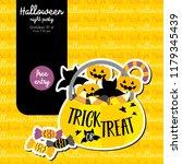 cute halloween design concept... | Shutterstock .eps vector #1179345439