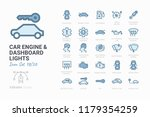 car engine and dashboard lights | Shutterstock .eps vector #1179354259