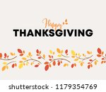 "lettering ""happy thanksgiving""... | Shutterstock .eps vector #1179354769"