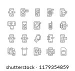 set of mobile outline icons... | Shutterstock .eps vector #1179354859