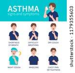 asthma bronchiale symptoms... | Shutterstock .eps vector #1179355603