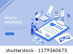 health insurance concept with... | Shutterstock .eps vector #1179360673