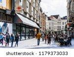 brussels  belgium   august 27 ... | Shutterstock . vector #1179373033