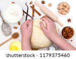 preparation of the christmas... | Shutterstock . vector #1179375460