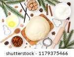 ingredients for christmas... | Shutterstock . vector #1179375466