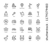 camping line icons | Shutterstock .eps vector #1179379483