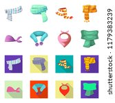 isolated object of scarf and... | Shutterstock .eps vector #1179383239