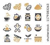ginger icon set | Shutterstock .eps vector #1179383263