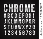 font alphabet number chrome... | Shutterstock .eps vector #1179386059
