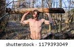 man beaded brutal sexy... | Shutterstock . vector #1179393049