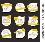 modern sale banners and labels... | Shutterstock .eps vector #1179401083