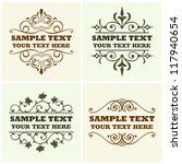 vector decorative text frames | Shutterstock .eps vector #117940654
