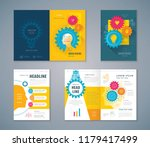 cover book design set  human... | Shutterstock .eps vector #1179417499