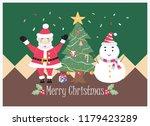 christmas design with santa... | Shutterstock .eps vector #1179423289