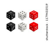 3d rendering. dices with ... | Shutterstock .eps vector #1179433519