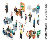 office workers during the work... | Shutterstock .eps vector #1179434539
