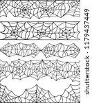 hand drawn spider web halloween ... | Shutterstock .eps vector #1179437449