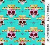 sugar skull pattern. day of the ... | Shutterstock .eps vector #1179450850