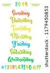 trendy hand lettering set of... | Shutterstock .eps vector #1179450853