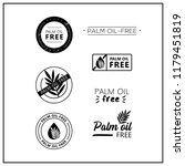 palm oil free icons on white... | Shutterstock .eps vector #1179451819